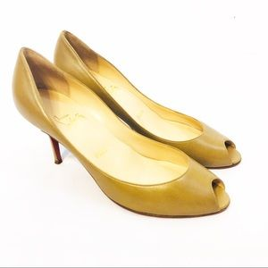 Louboutins Nude Leather Heels